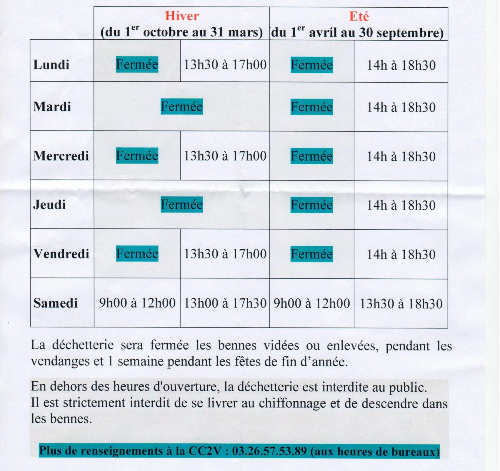 horaires-dechetterie-communaute-communes-des-2vallees